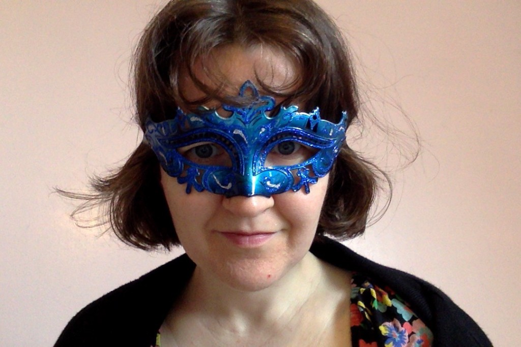 Steph wearing a mask